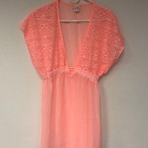 Arizona Sheer Peach Blouse Size-Medium